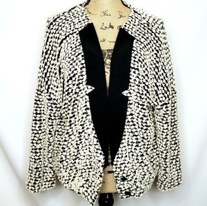 A'Reve | Pom Textured Blazer Style Sweater